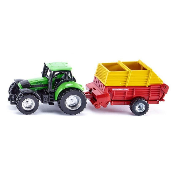 Siku Deutz-Fahr with Pottinger Trailer-SKU1676-Animal Kingdoms Toy Store