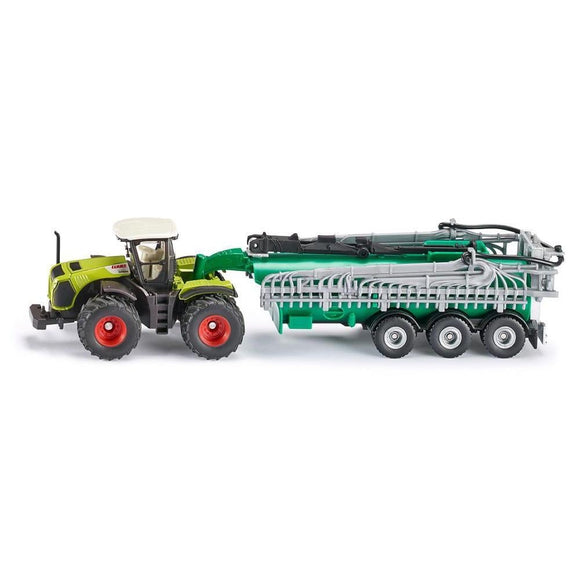 Siku 1:87 CLAAS Xerion 5000 with Tanker-SKU1827-Animal Kingdoms Toy Store