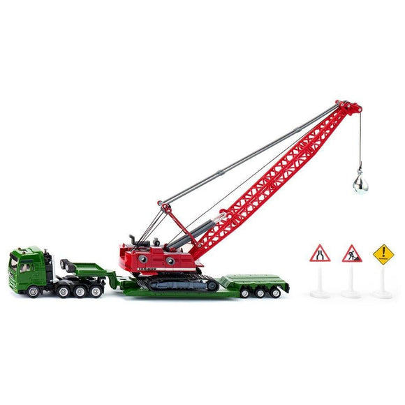 Siku 1:87 MAN with Liebherr Crawler with wrecking ball-SKU1834-Animal Kingdoms Toy Store