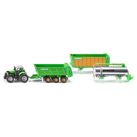 Siku 1:87 Deutz-Fahr with Joskin Trailer Set-SKU1848-Animal Kingdoms Toy Store