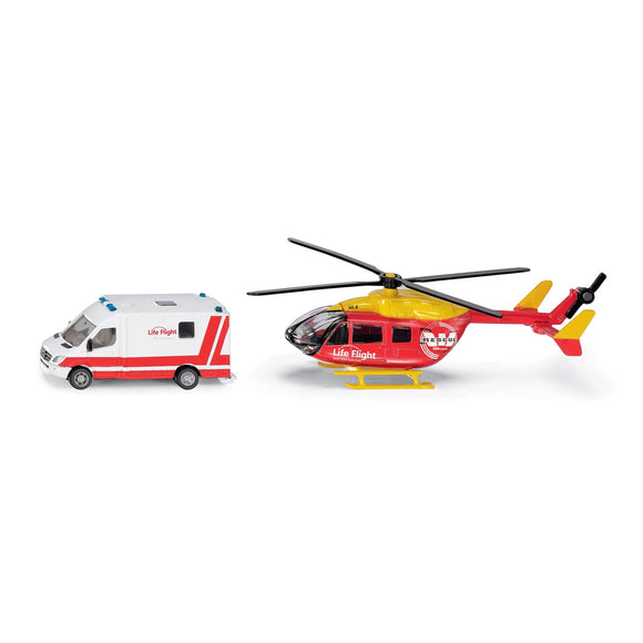 Siku 1:87 Life Flight Westpac Rescue Set-SKU1850NZ-Animal Kingdoms Toy Store