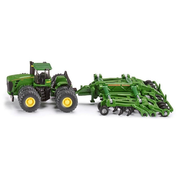 Siku 1:87 John Deere 9630 with Amazone Centaur-SKU1856-Animal Kingdoms Toy Store