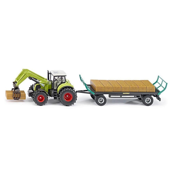Siku 1:50 CLAAS Axion 850 with Loader & Trailer-SKU1946-Animal Kingdoms Toy Store