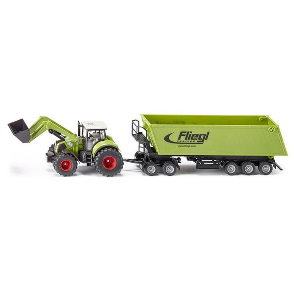 Siku 1:50 CLAAS with Loader, Dolly & Trailer-SKU1949-Animal Kingdoms Toy Store