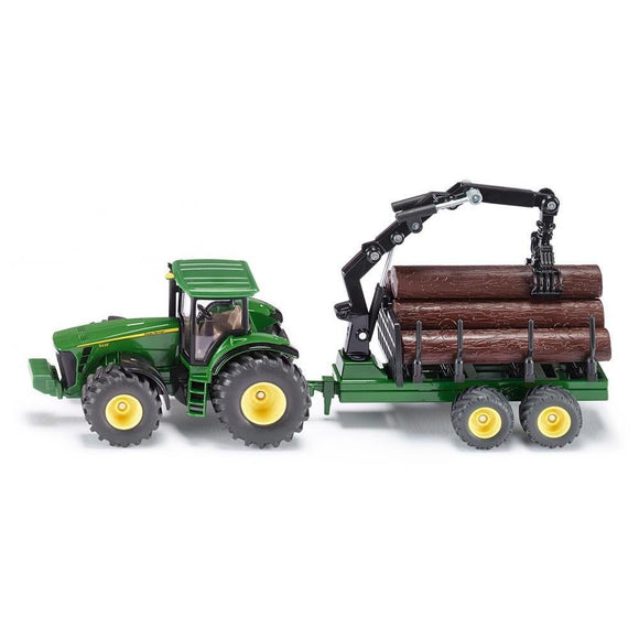 Siku 1:50 John Deere 8430 with Forestry Trailer-SKU1954-Animal Kingdoms Toy Store