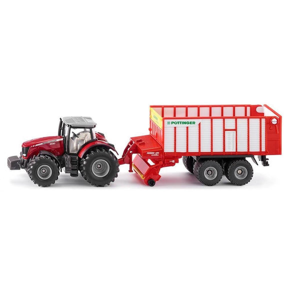 Siku 1:50 Massey Ferguson 8590 with Pottinger-SKU1987-Animal Kingdoms Toy Store