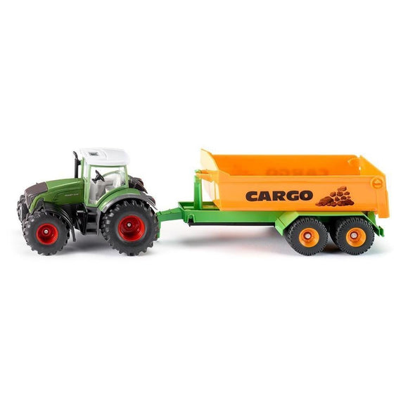 Siku 1:50 Fendt 938 with Hooklift Trailer-SKU1989-Animal Kingdoms Toy Store