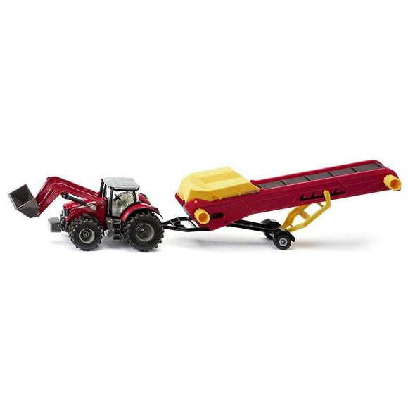 Siku 1:50 Massey Ferguson 8690 with Conveyor-SKU1996-Animal Kingdoms Toy Store