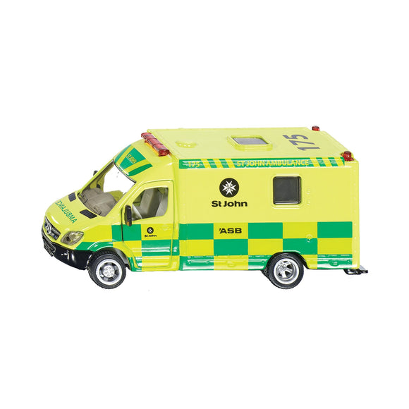 Siku 1:50 Mercedes St John Ambulance-SKU2108NZ-Animal Kingdoms Toy Store