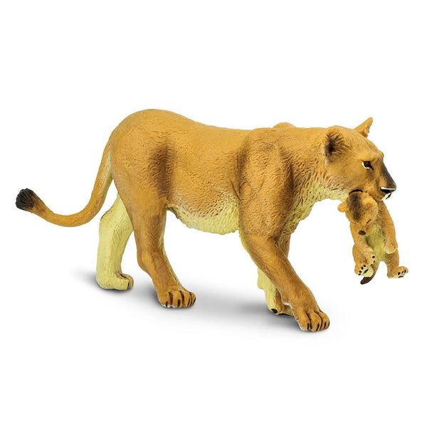 Safari Ltd Lioness With Cub-SAF225229-Animal Kingdoms Toy Store