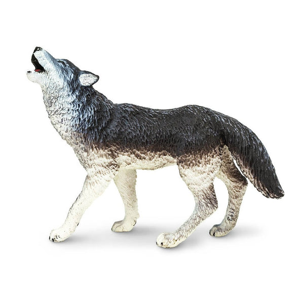 Safari Ltd Gray Wolf-SAF273829-Animal Kingdoms Toy Store