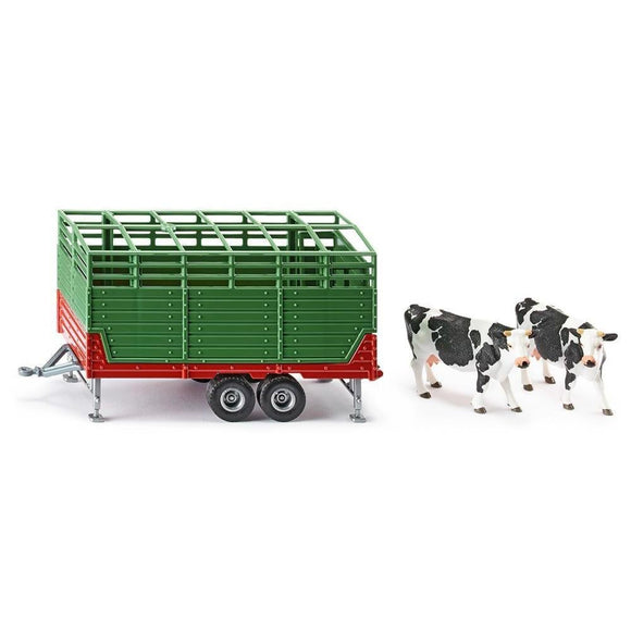 Siku 1:32 Stock Trailer with Two Cows-SKU2875-Animal Kingdoms Toy Store