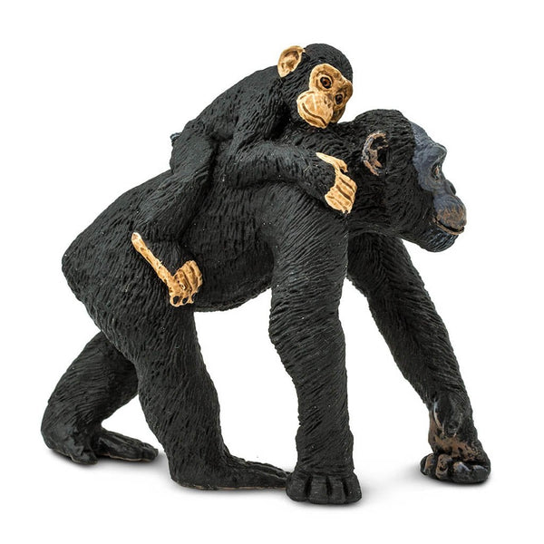 Safari Ltd Chimpanzee With Baby-SAF295929-Animal Kingdoms Toy Store