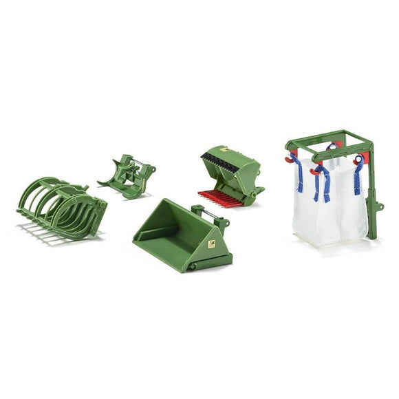 Siku 1:32 Front Loader Accessories Set - Green-SKU3658-Animal Kingdoms Toy Store