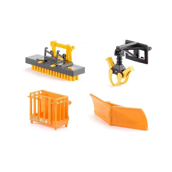 Siku 1:32 Front Loader Accessories Set - Orange-SKU3661-Animal Kingdoms Toy Store