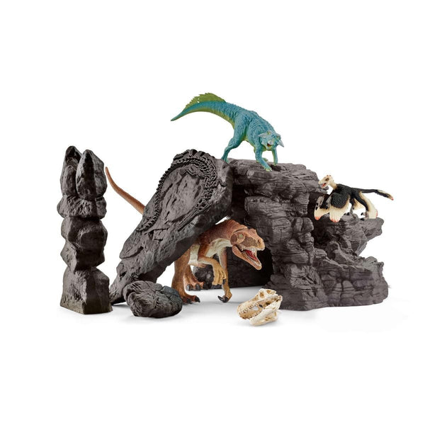 Schleich Dino Set with Cave-41461-Animal Kingdoms Toy Store