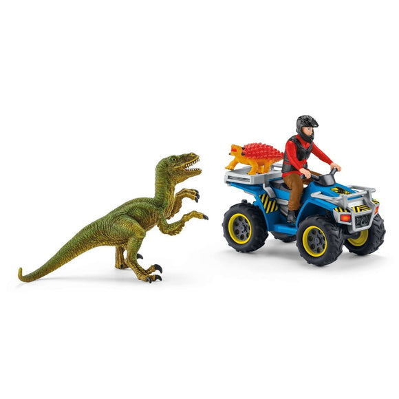 Schleich Quad Escape from Velociraptor-41466-Animal Kingdoms Toy Store