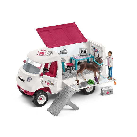 Schleich Mobile Vet with Hanoverian Foal-42370-Animal Kingdoms Toy Store