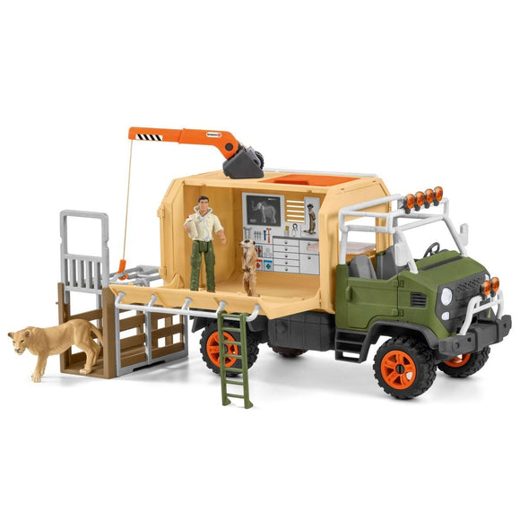 Schleich Large Truck Animal Rescue-42475-Animal Kingdoms Toy Store
