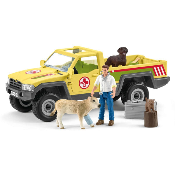 Schleich Veterinarian Visit at Farm-42503-Animal Kingdoms Toy Store