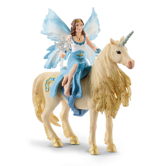 Schleich Eyela Riding On Golden Unicorn-42508-Animal Kingdoms Toy Store
