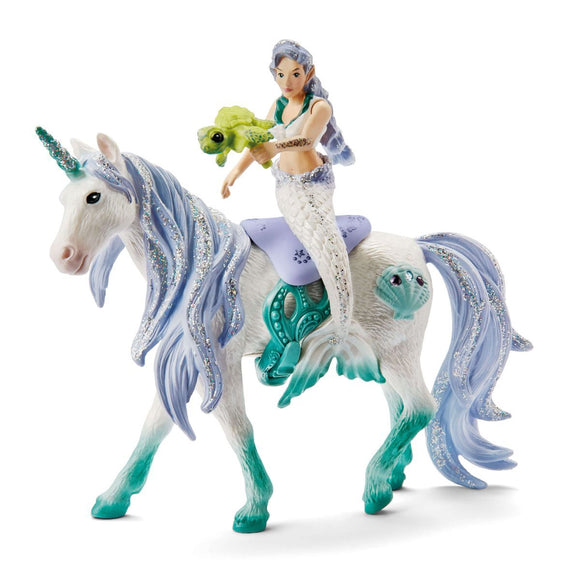 Schleich Mermaid Riding On Sea Unicorn-42509-Animal Kingdoms Toy Store