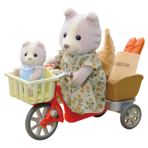 Sylvanian Families Cycling With Mother & Baby-4281-Animal Kingdoms Toy Store