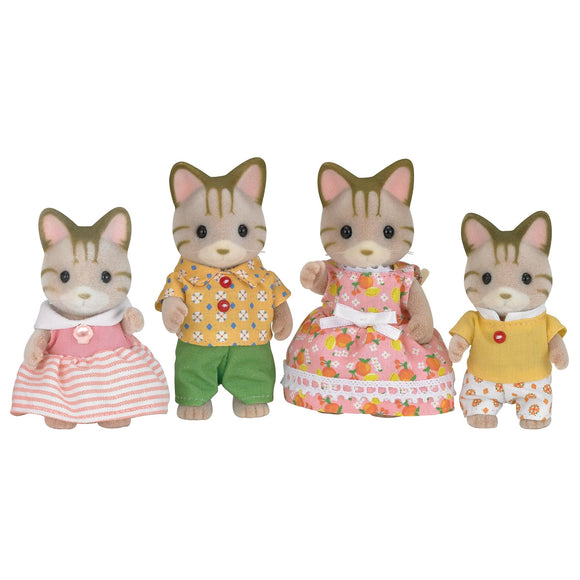 Sylvanian Families Striped Cat Family-5180-Animal Kingdoms Toy Store