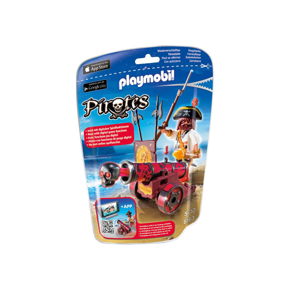 Playmobil Pirates Foil Bag Red Buccaneer & Cannon