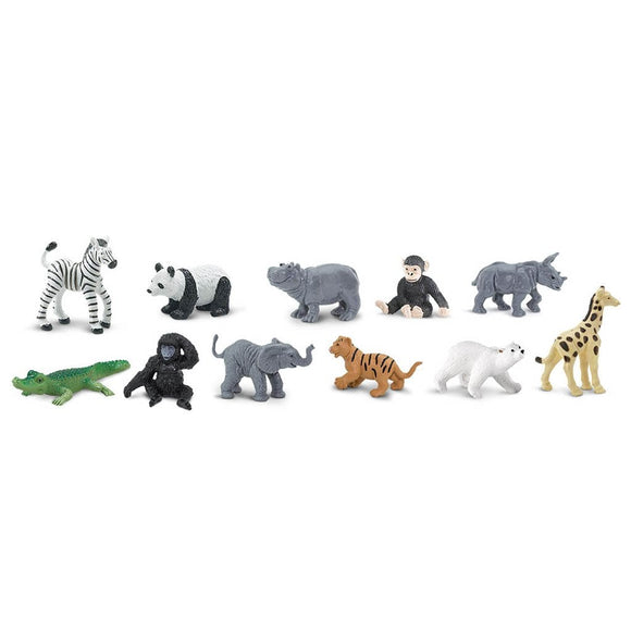 Safari Ltd Zoo Babies Toob-SAF680004-Animal Kingdoms Toy Store