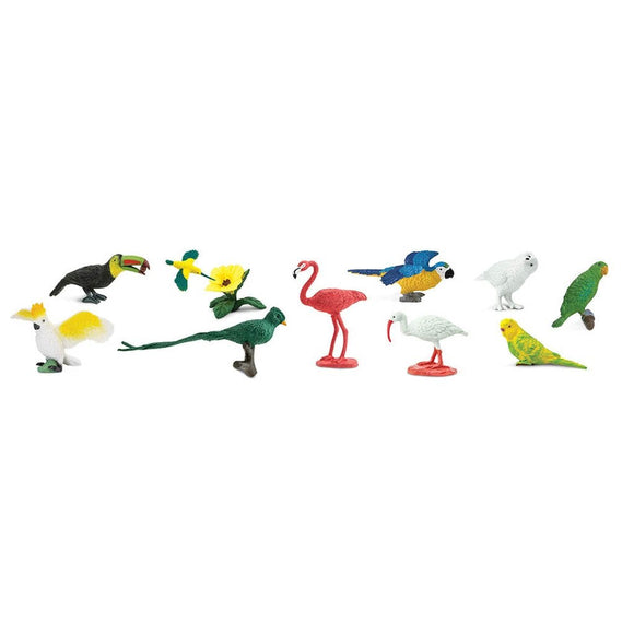 Safari Ltd Exotic Birds Toob-SAF680404-Animal Kingdoms Toy Store