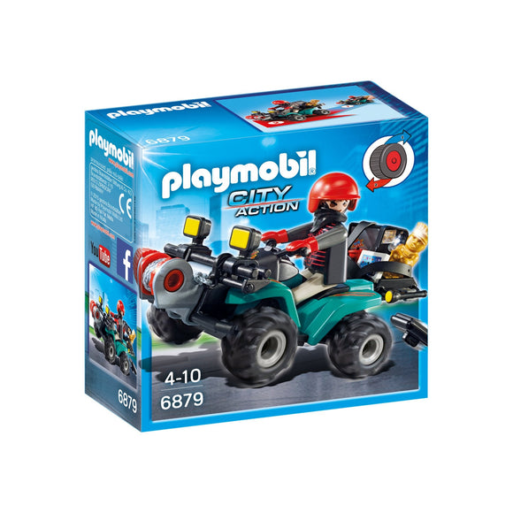 Playmobil City Action Robber's Quad with Loot-6879-Animal Kingdoms Toy Store
