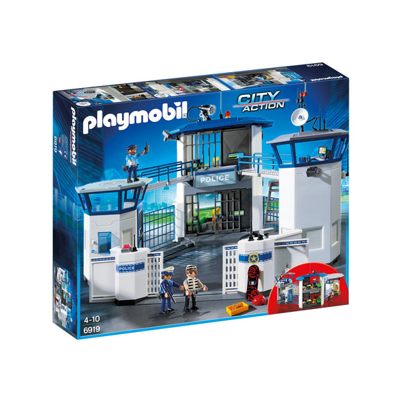 Playmobil City Action Police Headquarters with Prison-6919-Animal Kingdoms Toy Store