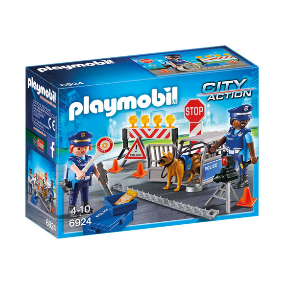 Playmobil City Action Police Roadblock-6924-Animal Kingdoms Toy Store