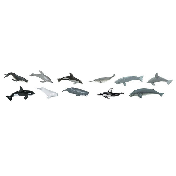 Safari Ltd Whales And Dolphins Toob-SAF694704-Animal Kingdoms Toy Store