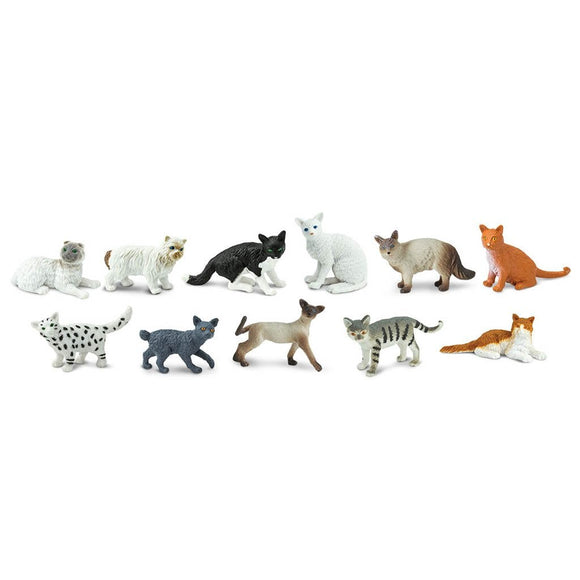 Safari Ltd Domestic Cats Toob-SAF699204-Animal Kingdoms Toy Store