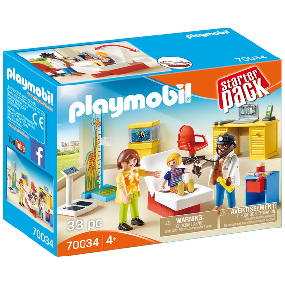 Playmobil Pediatrician's Office Starter Pack-70034-Animal Kingdoms Toy Store