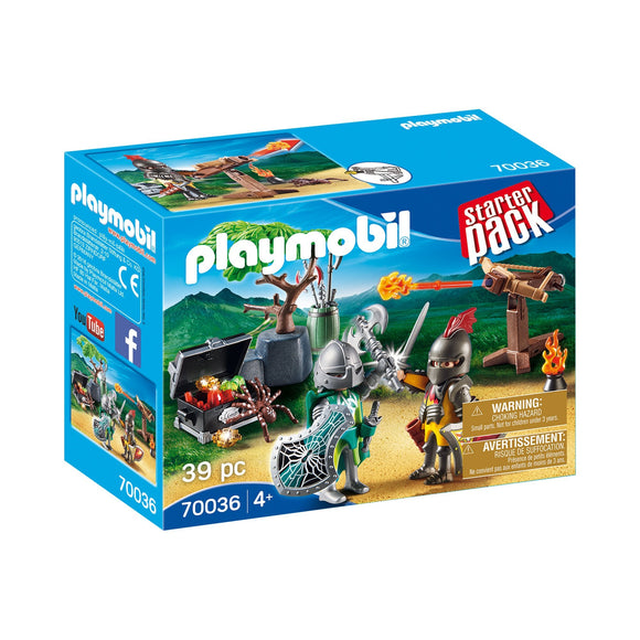 Playmobil Starter Pack Knight's Treasure Battle-70036-Animal Kingdoms Toy Store