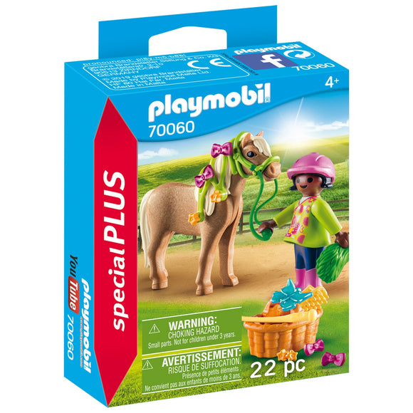 Playmobil Girl with Pony-70060-Animal Kingdoms Toy Store