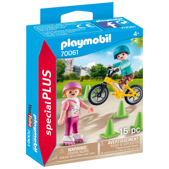Playmobil Children with Skates and Bike-70061-Animal Kingdoms Toy Store