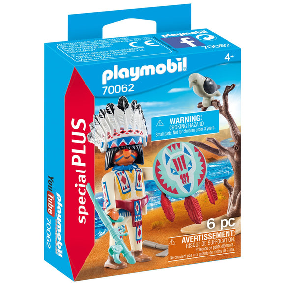 Playmobil Native American Chief-70062-Animal Kingdoms Toy Store