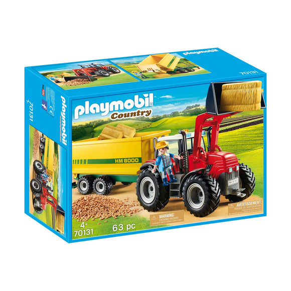 Playmobil Country Tractor With Feed Trailer
