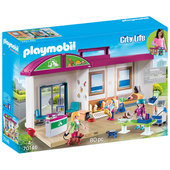 Playmobil Take Along Vet Clinic-70146-Animal Kingdoms Toy Store