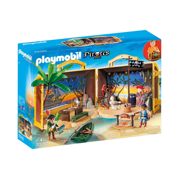 Playmobil Take Along Pirate Island Set-70150-Animal Kingdoms Toy Store