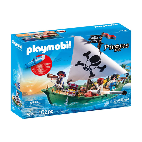 Playmobil Pirate Ship with Underwater Motor-70151-Animal Kingdoms Toy Store