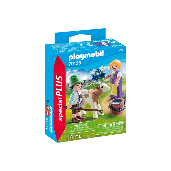 Playmobil Special Plus Children With Calf-70155-Animal Kingdoms Toy Store