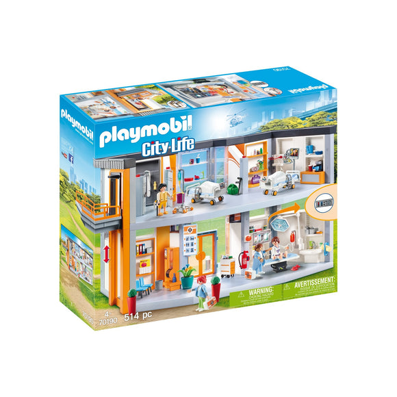 Playmobil Large Hospital-70190-Animal Kingdoms Toy Store