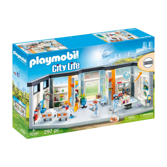 Playmobil Furnished Hospital Wing-70191-Animal Kingdoms Toy Store