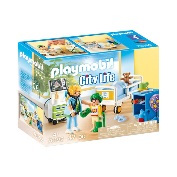 Playmobil Childrens Hospital Room-70192-Animal Kingdoms Toy Store