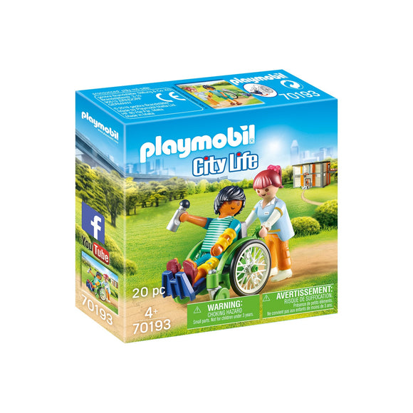 Playmobil Patient in Wheelchair-70193-Animal Kingdoms Toy Store